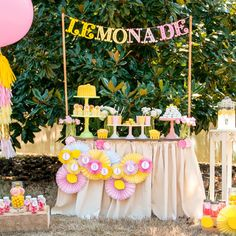 Adorable! Pink Lemonade Stand Birthday Printable Party by FrogPrincePaperie, 32.00