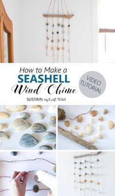 This seashell wind chime is so easy to make and can be used indoors as a coastal cottage décor idea for your bedroom wall. A quick video tutorial for this easy nautical DIY decorating idea is included!