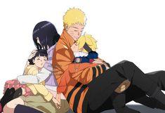 Uzumaki family // naruto hinata boruto and himawari Naruhina, Naruto Uzumaki, Naruto And Sasuke, Himawari Boruto, Manga Naruto, Naruto Gaiden, Naruto Cute, Hinata Hyuga, Itachi