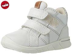 Ecco Baby Mädchen First Lauflernschuhe, Weiß (58527WHITE/Alusilver), 24 EU - Kinder sneaker und lauflernschuhe (*Partner-Link)