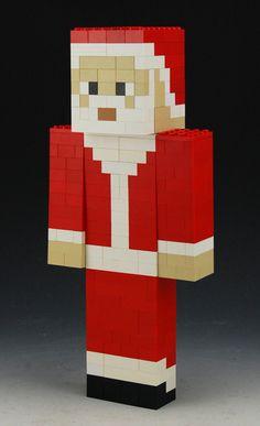 Mention ANGLSWNGS Lego Minecraft Santa custom by BrickBum on Etsy
