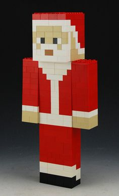 Mention ANGLSWNGS Lego Minecraft Santa custom by BrickBum on Etsy