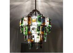 3 Tier Beer Bottle Chandelier & 10 Bottle Light Pe