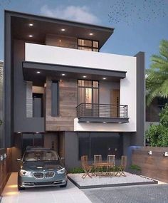Charming Minimalist House Plan Ideas That You Can Make Inspiration is part of Minimalist house design - Contemporary house plans call for clean, smooth surfaces and an uncluttered appearance Contemporary flair is minimalist in design and features […] Bungalow Haus Design, Duplex House Design, House Front Design, Modern House Design, Minimalist House Design, Minimalist Home, Modern Architecture House, Amazing Architecture, Small Modern Home