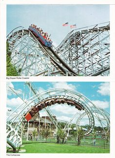 7. The Big Dipper and The Corkscrew at Geauga Lake Amusement Park: circa early 1980s