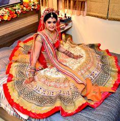 Spotted in MischB Couture Bridal lehenga www.weddingstoryz.com bridal wear ideas designs patterns lehenga outfit zari zardozi indian weddings