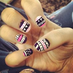 Tribal nails :)