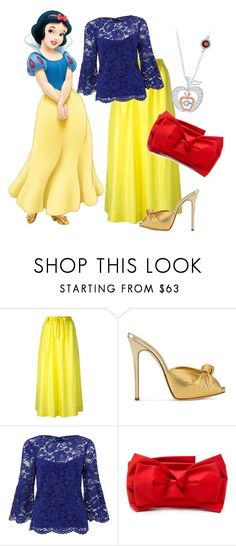 """""""Snow White and the Seven Dwarfs: Snow White"""" by madalynofandalasia on Polyvore featuring Joseph, Giuseppe Zanotti, Monsoon, RED Valentino and Disney"""