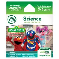 LeapFrog Learning Game: Sesame Street Solve it with Elmo (for LeapPad Tablets and LeapsterGS), 2016 Amazon Top Rated Children's Software  #Software