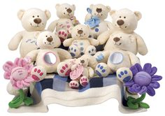 The soft toy Buttons Babies.
