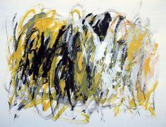 """Julie Schumer, """"Embrace of Yellow II,""""  38 X 50, acrylic on paper www.julieschumer.com"""