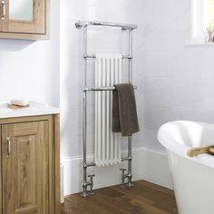 The Brampton heated towel warmer will enhance your traditional bathroom Bathroom Shop, Big Bathrooms, Bathroom Towels, Bathroom Ideas, Brick Bathroom, Cloakroom Ideas, Bathroom Renos, Bathroom Designs, Bathroom Furniture