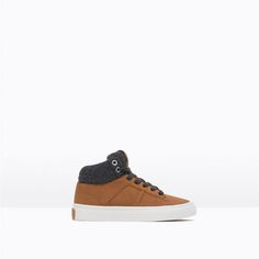 Image 1 of CONTRAST HIGH-TOP SNEAKERS from Zara