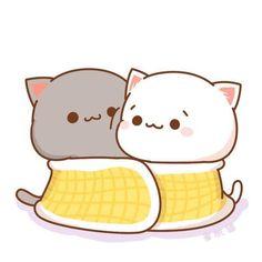 Ala,yaxwa qazaw kawe la balxa❤love you my husband😘❤ Cute Cartoon Images, Cute Couple Cartoon, Cute Love Cartoons, Cute Cartoon Wallpapers, Chat Kawaii, Arte Do Kawaii, Kawaii Cat, Cute Anime Cat, Cute Cat Gif