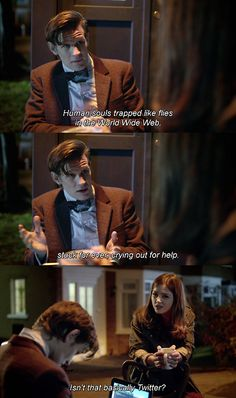 Yeah. I about died at this. Especially since Moffat had to delete his Twitter just so he could get work done.
