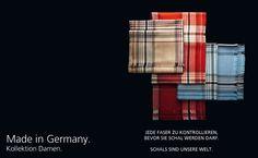 Made in Germany Jede Faser zu kontrollieren, bevor sie Schal werden darf. FRAAS - The Scarf Company