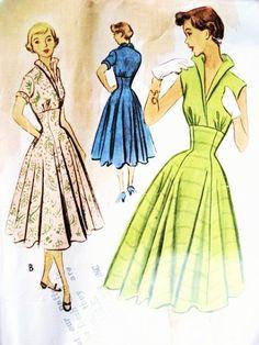 ROCKABILLY 50er Jahre McCalls 8835 Kleid von SoVintageOnEtsy