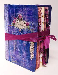 Fairytale Wedding Guest Book Wedding Scrapbook Photo Album shabby chic style