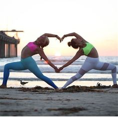 cool infinity yoga pose for two people great for best
