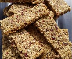 Müsliriegel mit Cranberries