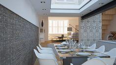 Dining room : Sala da pranzo moderna di OverAlls architecture