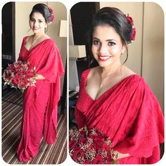 Sri Lankan fashion  Stelazo  Fashions Bridesmaid Saree, Brides And Bridesmaids, Srilankan Wedding, Sri Lankan Bride, Low Key Wedding, Bridal Lehenga, Saree Wedding, Bridal Blouse Designs, Bridal Lace