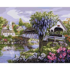 16×20 Paint By Number Kit – View of the Village « Blast Groceries