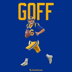 Jared Goff, Los Angeles Rams Will Goff help bring LA to the Super Bowl? National Football League, Football Team, Nfl Redzone, Jared Goff, Nfl Championships, Nfc West, St Louis Rams, La Rams, Sports Logo