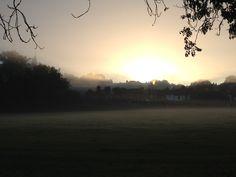 Winter's sun rise. St. Mary's, Harrow on the Hill