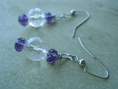 Amethyst Purple Quartz Earrings Royal Twilight by KottageKreations, $10.00