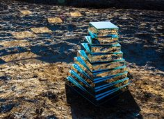 Babel Tower: A Kinetic Mirrored Ziggurat Reflects the Surrounding Iranian Landscape