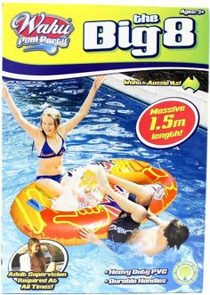 New Wahu Pool Party  The Big 8 - Blue Inflatable Pool Toy