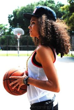 swag, basketball, girl Senior Pic...maybe with a dress on.  Love the goal in the background too.
