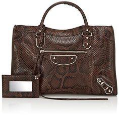 a482b8ee36ef Balenciaga Women s Metallic Edge Classic City Python Bag