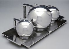 PAUL A ' Silver Tea Service Set Art Deco