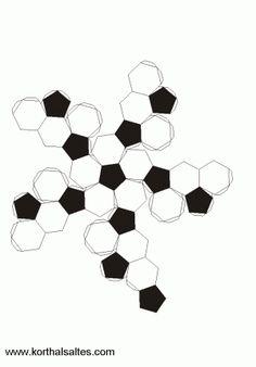 desarrollo plano de unicosaedro truncado