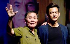 Star Trek EXCLUSIVE INTERVIEW: John Cho...Love this picture of George and John!