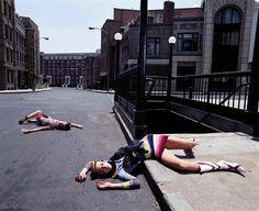 Anouck Lepère and Raquel Zimmermann, Los Angeles, Vogue Italia, August 2000