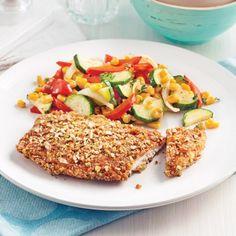 Escalopes de poulet en croûte de bretzels - Soupers de semaine - Recettes 5-15 - Recettes express 5/15 - Pratico Pratique