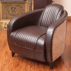 Sheeley Leather Accent Chair