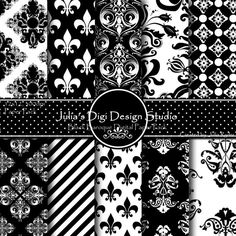 Black Baroque Digital Paper Pack.Love her stuff
