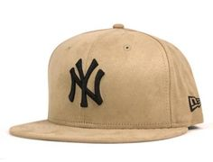 Custom New York Yankees Synthetic Suede Beige 59Fifty Fitted Baseball Cap by NEW ERA x MLB #MyFavorites #NY59