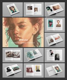 Artiste / Multipurpose Minimal Portfolio Brochure Template PSD. Download here: http://graphicriver.net/item/artiste-multipurpose-minimal-portfolio-/15710311?ref=ksioks