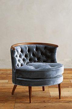 Slub Velvet Bixby Chair - http://anthropologie.com