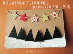 Recull de manualitats nadalenques compartides a Educació i les TIC
