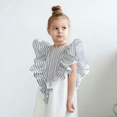 Delicate cotton lined dress # ❤️ extravagant and very comfortable, ideal for holidays, walks . Little Girl Fashion, Toddler Fashion, Kids Fashion, Little Girl Dresses, Girls Dresses, Cute Baby Clothes, Kind Mode, Baby Dress, Girl Outfits