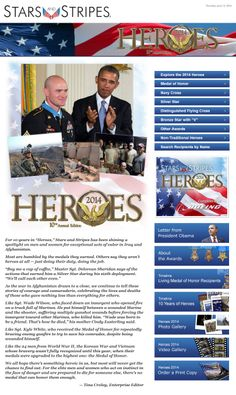 """For 10 years in ""Heroes,"" Stars and Stripes has been shining a spotlight on men and women for exceptional acts of valor in Iraq and Afghanistan"" via Stars  Stripes"