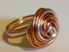 Metallic Ring Metal Ring Spin Ring Wrapped Wire by theWRAPstar, $15.00