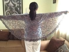 gorgeous lacy knitted shawl
