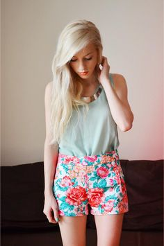 Shop this look on Kaleidoscope (top, shorts, necklace)  http://kalei.do/WC9On2mC2jrmi5mT